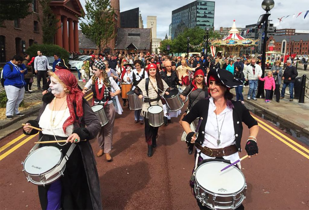 La Bomba at the Pirates Festival, Liverpool 2015
